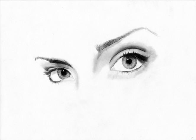 Frauenaugen, Augen, Zeichnung, Zeichnungen, Menschen