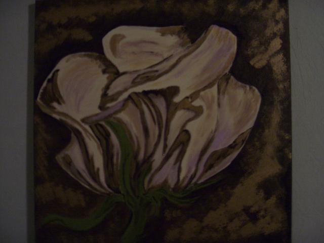 Blüte, Blumen, Gold, Rose, Braun, Malerei
