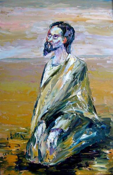 Malerei, Figural, Wüste, Jesus