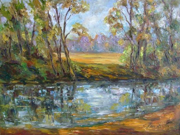 Malerei, Landschaft, Ruhig