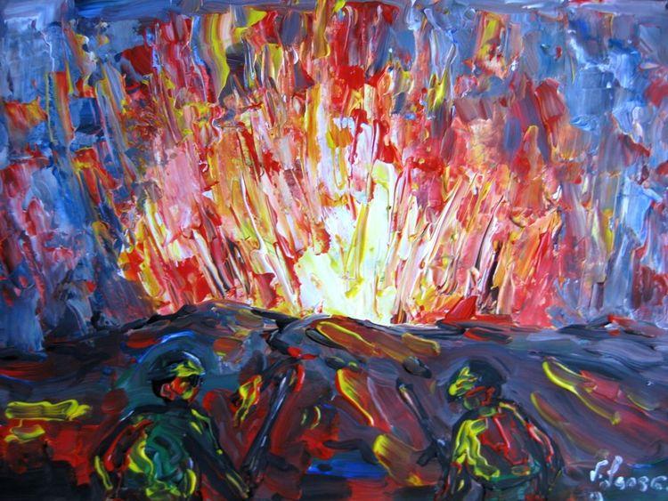 Malerei, Schlacht