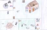 Kinder, Malen, Bauernhof, Tiere