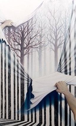 Surreal, Malerei, Acrylmalerei, Bizarr