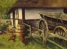 Ölmalerei, Malerei, Bauernhof,