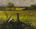 Feldrand, Ölmalerei, Malerei,