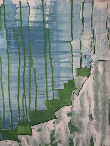 Grün, Meer, Abstrakt, Blau, Küste, Malerei