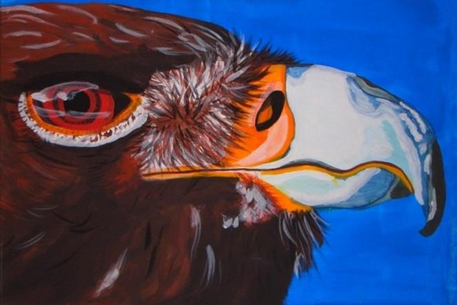 Tiere, Adler, Malerei