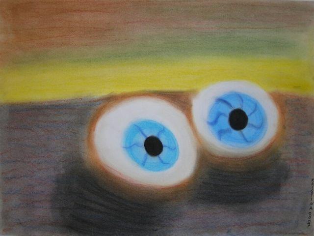 Pastellmalerei, Augen, Zeichnung, Zeichnungen