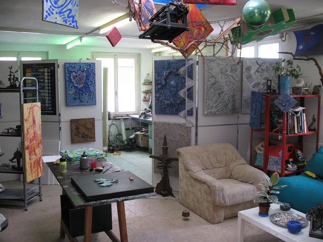 Malerei, Blick, Atelier