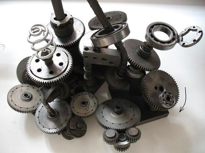 Maschine, Zahnrad, Mechanik, Bewegung, Kugellager, Skulptur