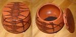Keramik, Dose, Gedreht, Engobe