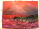 Wind, Felseninsel, Rot, Meer