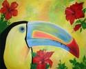 Paradies, Vogel, Hibiskus, Blüte