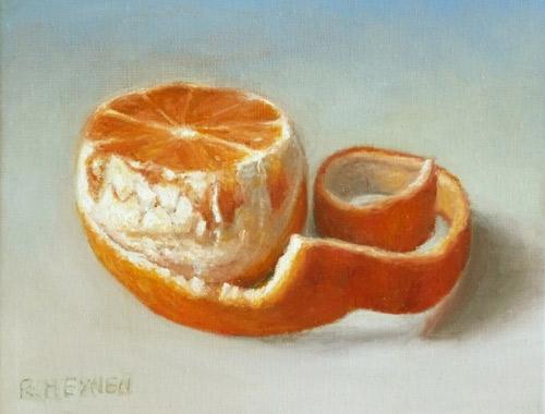 Orange, Stillleben, Ölmalerei, Obst, Malerei