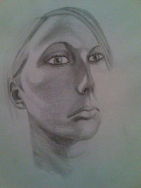 Bleistiftzeichnung, Zeichnung, Portrait, Zeichnungen, Uhr