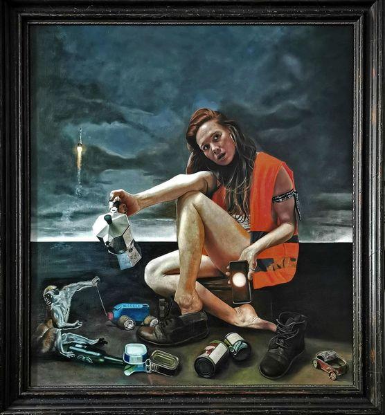 Österreich, Ölmalerei, Allegorie, Malen, Swipe up, Portrait