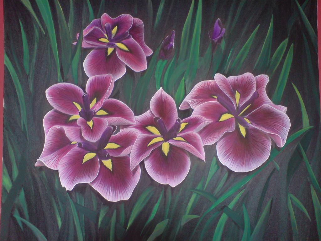 Kunstnet werke malerei pflanzen blumen 2