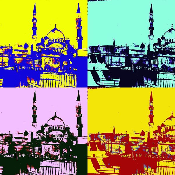 Digital, Pop art, Digitale kunst, Pop, Moschee,