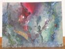 Abstrakt, Blumen, Acrylmalerei, Schnur