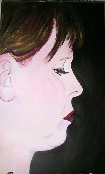 Gedanken, Denken, Portrait, Grübeln, Frau, Versinken