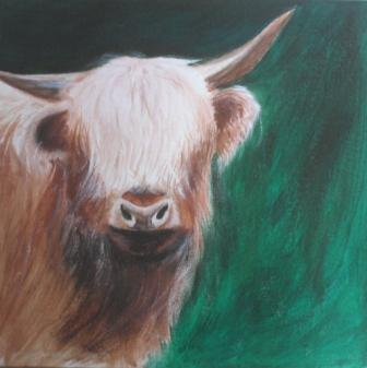Rind, Acrylmalerei, Natur, Frei, Wild, Malerei