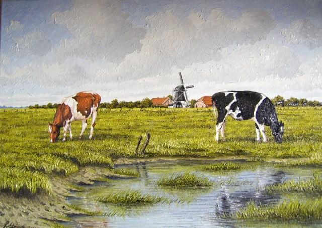 Friesland, Weite, Watt, Nordsee, Ostfriesland, Malerei
