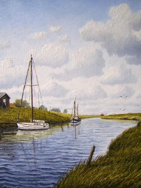 Friesland, Weite, Nordsee, Ostfriesland, Watt, Zeichnungen