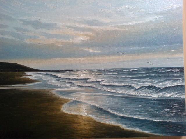 Wasser, Ölmalerei, Nordsee, Malerei,