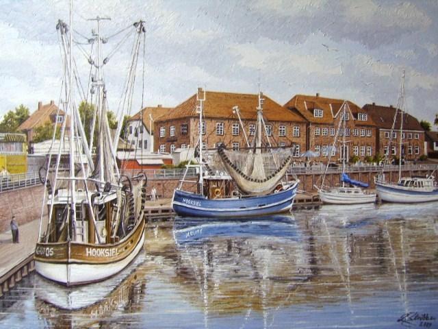 Nordsee, Ostfriesland, Watt, Friesland, Weite, Malerei