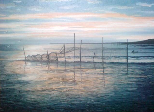 Abendstimmung, See, Watt, Meer, Nordsee, Malerei