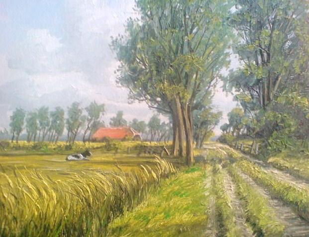 Weite, Malerei, Landschaft, Ostfriesland, Friesland