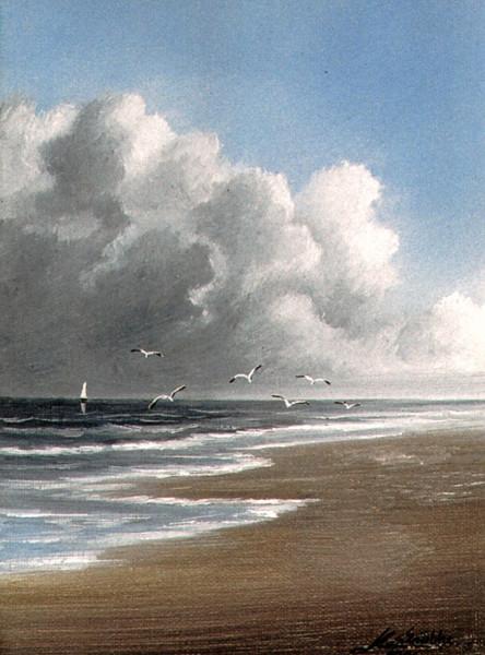 Spiekeroog, Meer, Wasser, Insel, Nordsee, Malerei