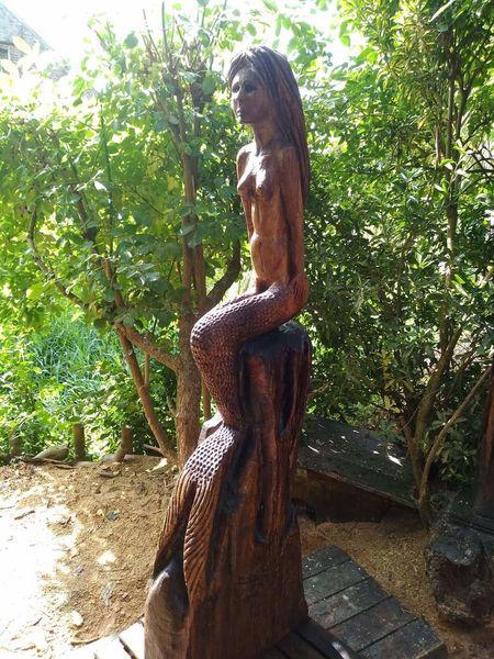 Skulptur, Akt, Greetje, Frau, Meeresnixe, Nixe