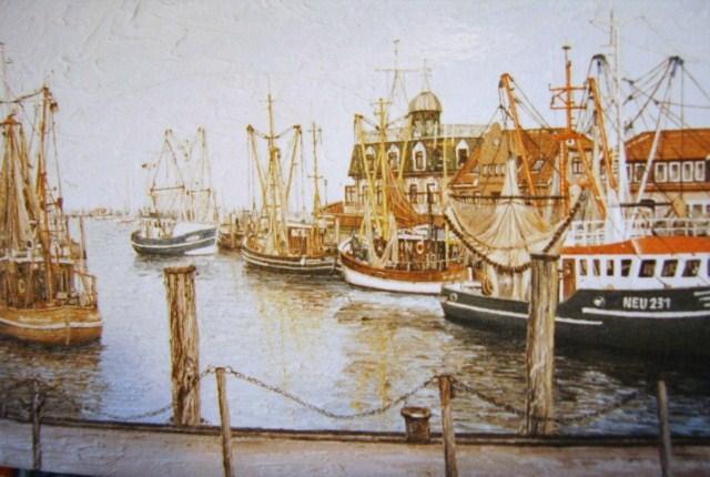 Weite, Watt, Nordsee, Ostfriesland, Friesland, Malerei