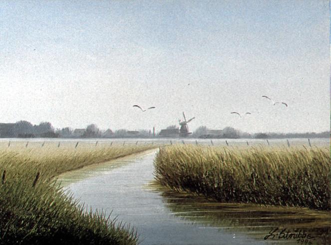 Landschaft, Pastellmalerei, Malerei