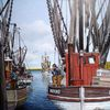 Krabbe, Boot, Hafen, Wasser