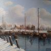 Schiff, Hafen, Winter, Schnee