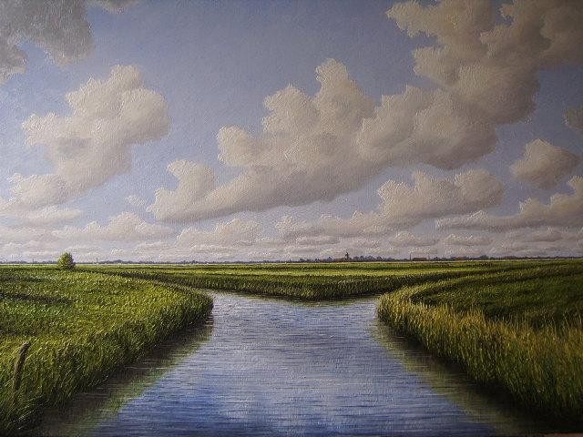 Ostfriesland, Strübbe, Norden, Weite, Landschaft, Malerei