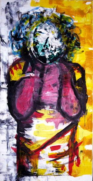 Frau, Acrylmalerei, Malerei