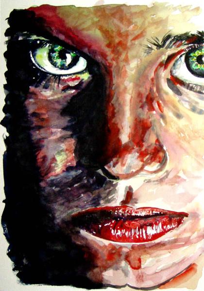 Augen, Aquarellmalerei, Malerei, Portrait