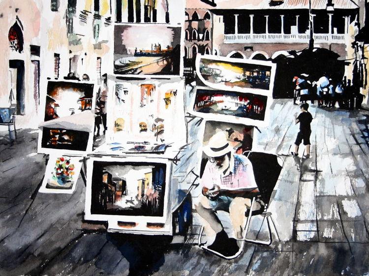 Venedig, Aquarellmalerei, Malen, Aquarell,