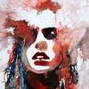 Frau, Farben, Gesicht, Ausdruck