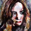 Ausdruck, Menschen, Aquarellmalerei, Frau