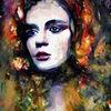 Portrait, Gesicht, Frau, Farben