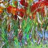 Farben, Abstrakt, Acrylmalerei, Blumen