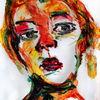 Portrait, Frau, Farben, Gesicht