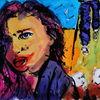 Frau, Expressionismus, Figurativ, Farben