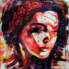 Frau, Portrait, Blick, Figurativ
