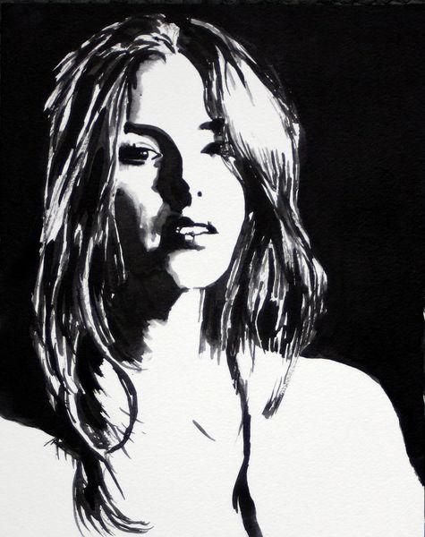 Frau, Ausdruck, Portrait, Schwarz, Monochrom, Weiß