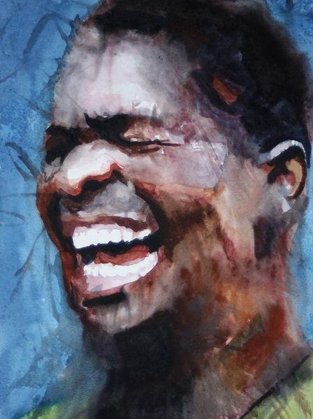 Emotion, Mann, Ausdruck, Menschen, Aquarellmalerei, Aquarell